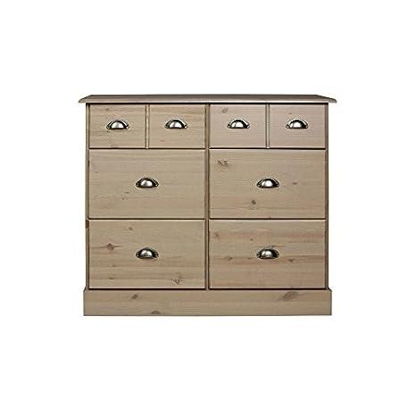 Steens Furniture 3400420069000F Kommode Nola, 78 x 91 x 38 cm, Kiefer massiv, grau