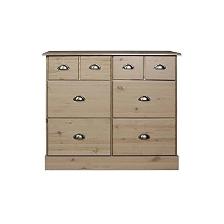Steens Furniture 3400420069000F - Comò Nola, 78 x 91 x 38 cm, colore: Grigio