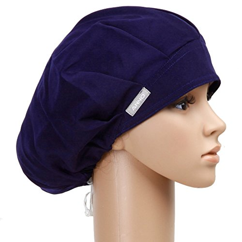 Outsport Navy Bouffant Surgical Scrub Caps for Women Ponytail (Scrub Cap Navy compare prices)