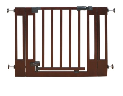 Summer Infant Multi-Use Deluxe Wood Walk-Thru Gate, Dark Cherry