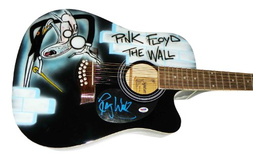 Pink Floyd Roger Waters Signed 12String Airbrushed Guitar PSA