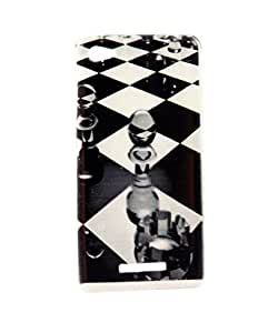 Exclusive Premium Rubberised Back Case Cover For Micromax Canvas 4 Plus A315 - Glass Chess Bord
