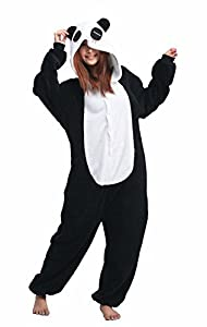 iNewbetter Sleepsuit Costume Cosplay Homewear Lounge Wear Kigurumi Onesie Pajamas ,Panda ,M (160-169cm)
