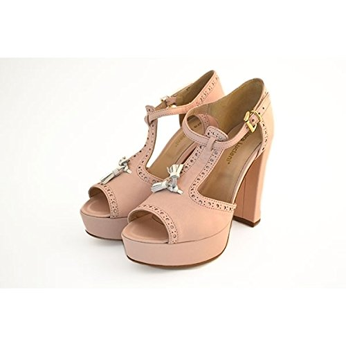 Scarpe sandali, decolte' Chiara Luciani con chiusura con cinturino rosa, taglia: 39