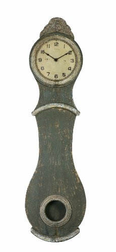 Creative Co-Op Wall Clock with Distressed Wood Finish,