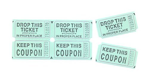 Fun Express Green Double Roll Raffle Tickets (Set of 2000)