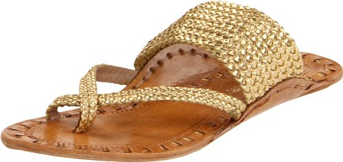 Chinese Laundry Women's Rock Steady Thong Sandal,Gold,9 M US