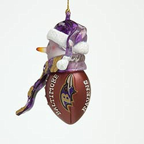 Baltimore Ravens Claydough Snowman With Sign Ornament