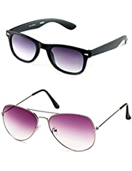MagJons Black Wayfarer And Pink Aviator Sunglasses Set Of 2 (With Box)