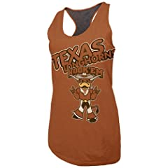 Buy NCAA Texas Longhorns Ladies Warm Up Racerback Tank Top, Texas Orange Heather by SECTION 101 Majestic