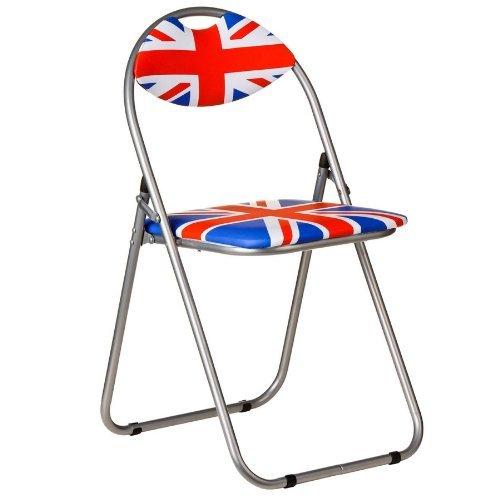 Premier Housewares Union Jack Folding Chair, 80 x 45 x 47 cm