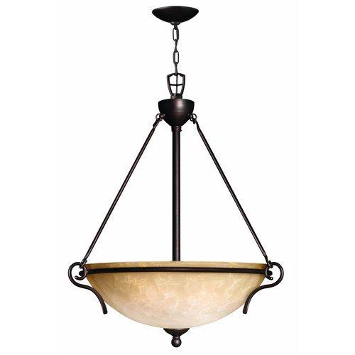Hinkley Lighting H4114 3 Light Indoor Bowl Shaped Pendant from the Portofino Col, Victorian Bronze