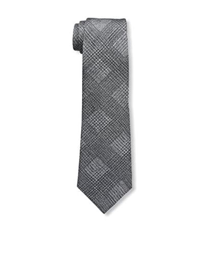 Valentino Men's Plaid Tie, Silver