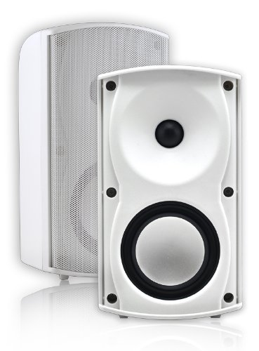 Osd Audio Ap490 White 4-Inch Indoor Or Outdoor 100-Watt Patio Speaker Pair