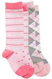 BabyLegs Organic Knee-High 2 Pack Socks, Looking Glass, 0-12 Months