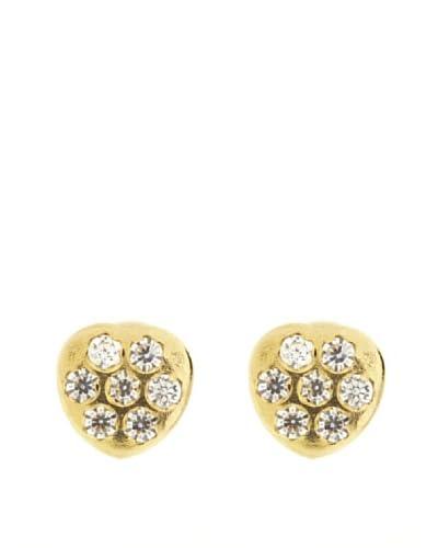 Gold & Diamond Orecchini Cuore Zirconia