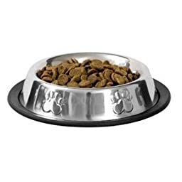 Dog Bowls, Food Bowl, for Small Pets, Metal, Stainless Steel, Non Skid, Dog, Puppy, Cat, Kitten, Rabbit, Feeder, Set of 2
