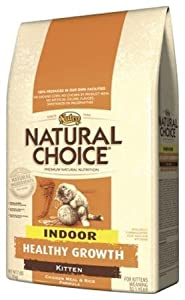Natural Choice Chicken Meal and Rice Formula Indoor Healthy Growth Kitten Food, 7-Pound