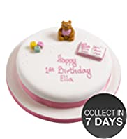 Pink Bear Celebration Fruit Cake