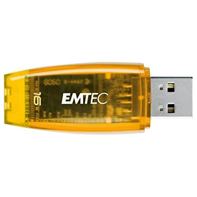 EMTEC C400 Candy II Series 16 GB USB 2.0 Flash Drive (Orange)
