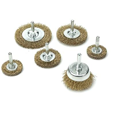 Kawasaki 840255 Wire Wheel Cup and Brush Set, 6-Piece