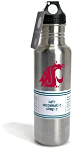 Buy NCAA Washington State Cougars 27-Ounce Stainless Bottle by Pinemeadow Green