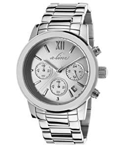 a_line Women's AL-80597-22S Sophi Chic Analog Display Japanese Quartz Silver Watch