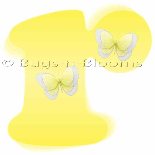"""R"" Yellow Butterfly Alphabet Letter Name Wall Sticker. Decal Letters For Children'S, Nursery & Baby'S Room Decor, Baby Name Wall Letters, Girls Bedroom Wall Letter Decorations, Child'S Names. Butterflies Mural Walls Decals Baby Shower front-982710"