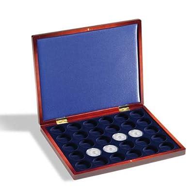 Leuchtturm Coffret Numismatique VOLTERRA UNO de luxe, pour 30 pièces jusqu'à 32 mm Ø en capsules