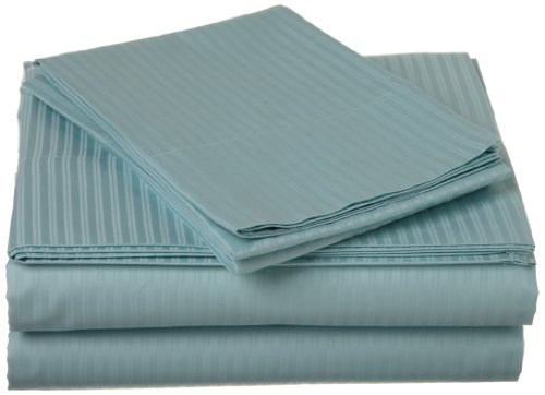 Melange Home 400 Thin Dobby Stripe Sheet Set