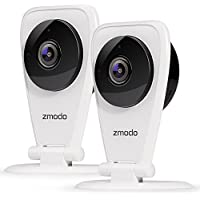 2-Pack Zmodo EZCam 720p HD Wi-Fi Wireless Security Surveillance IP Camera System with Night Vision