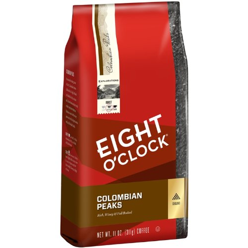Eight O'Clock Colombian Peaks Ground Coffee, 11-Ounce Bags (Pack of 6)