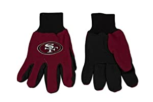 San Francisco 49ers Two-Tone Gloves