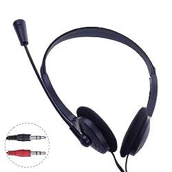 Kingmys 3.5mm Microphone Headphone MSN Skype Talk for PC Laptop/Notebook