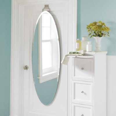 Over-Door Beveled Door Mirror - Grandin Road