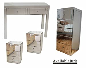My-Furniture Mirrored Bedroom Furniture Package, Dressing ...
