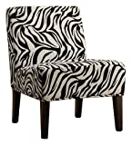 Homelegance Lifestyle Armless Lounge Chair, Zebra