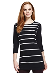 M&S Collection Slash Neck Striped Tunic
