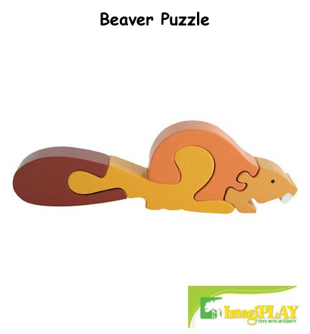 Cheap Fun ImagiPLAY Colorific Earth Beaver Puzzle (#10238) (B002CFPNF8)