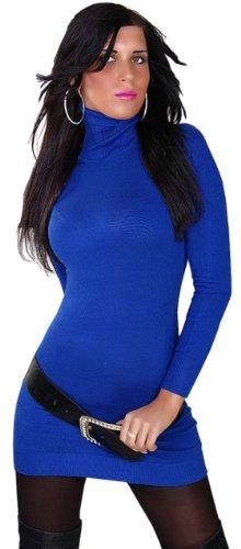 instyle-robe-crayon-col-roule-manches-longues-femme-bleu-bleu-taille-unique