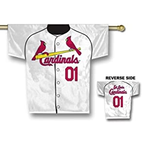 St. Louis Cardinals 34 x 30 Two Sided Jersey Banner by Fremont Die