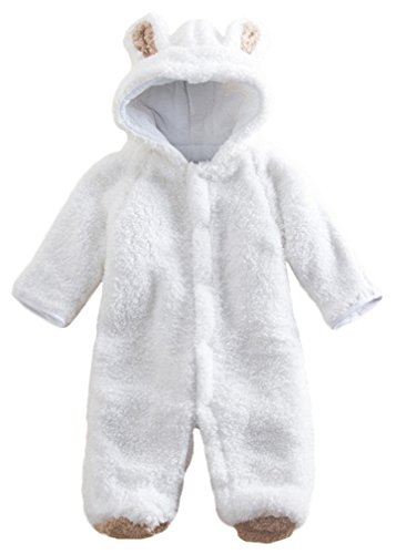 Lay baby onto the open snowsuit - pop legs in first - then arms and finally zip or popper starting from the outside of each leg and working inwards and upwards - finally finishing underneath the neck.