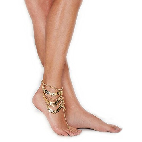 One-piece Golden Multi-layer Foot Chain Ankle Bracelet