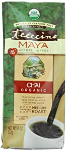Teeccino Maya Chai Herbal Coffee Alternative, Caffeine Free, Acid Free, 11oz (Pack of 3)