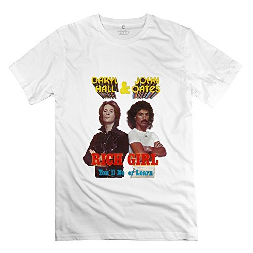 Manrv Mens Hall & Oates Rich Girl T-shirt - M to XXXL