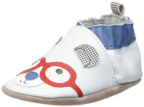 RobeezBEAR - Scarpine e pantofole primi passi  Unisex - Bimbi 0-24 , Blu (Blau (51)), 21/22
