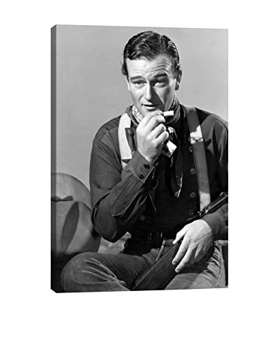 Retro Images John Wayne Smoking One Archive Gallery-Wrapped Canvas Print