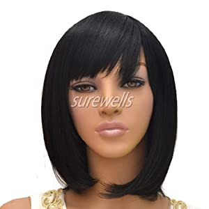 ... Black Straight Hair Wigs for Women : Hair Replacement Wigs : Beauty