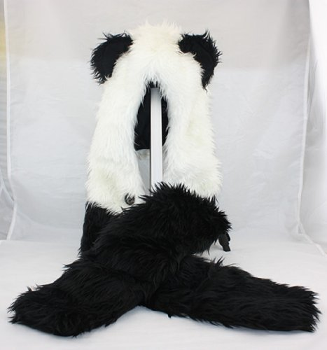 Best Prices! Panda Animal Hood Faux Fur Hat with Warm ...