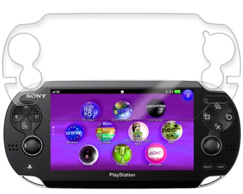 Skinomi® Drytech - Sony Playstation Ps Vita Screen Protector Premium Hd Clear Film With Lifetime Replacement Warranty / Ultra High Definition Dry-Install Invisible And Anti-Bubble Crystal Shield - Retail Packaging (Model(S): 3G)